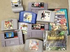 Video Game Lot of 10 Super Nintendo 64 Genesis Mario 007 NCAA Football NBA