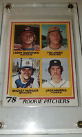 1978 Topps #703 Rookie Card 78 Pitchers W/ Jack Morris Detroit Tigers
