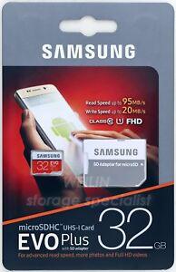 SAMSUNG EVO PLUS 32 GB micro SDHC TF Memory Card Class 10 95MB 32G SDHC 4K UHD