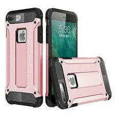 Rose Gold Luxury Hybrid Rugged Matte Defender Box Case Cover For iPhone 7 Plus