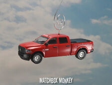 Red 2016 Dodge Ram 2500 Quad Cab Truck Christmas Ornament Cummins Diesel tonneau
