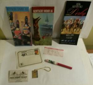 Kentucky Derby Haucks Handy Store 113 115 117 1980s lot 8 ticket key pen paper