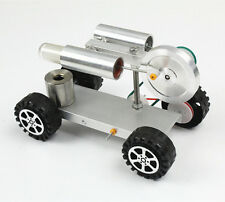 Mini Hot Air Stirling Engine Motor Model Educational Toy Car Kits