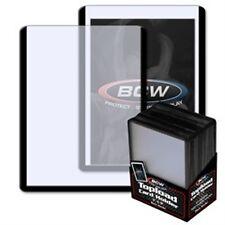 """Toploader 3""""x4"""" Black Border Card Holder 25 Count Pack [NEW] Case Top Loader BCW"""