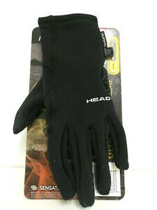 HEAD Sensatec MEN'S Ultrafit Touchscreen Warm Running Gloves BLACK -S2