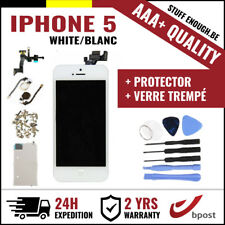 AAA+ LCD SCREEN SCHERM ÉCRAN ASSEMBLY WHITE BLANC+TOOL&VERRE TREMPÉ FOR IPHONE 5