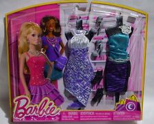 NEW-2013-BARBIE & NIKKI-LIFE IN THE DREAMHOUSE 2-PACK/SET FASHIONS-SILVER ROSE +