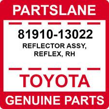81910-13022 Toyota OEM Genuine REFLECTOR ASSY, REFLEX, RH