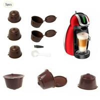 5Pcs Refillable Coffee Capsule Cup For Dolce Gusto Nescafe Reusable Filter Pod