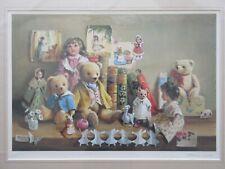 Deborah Jones, Edwardian Collection Traditional Limited Edition Teddy Bear Print