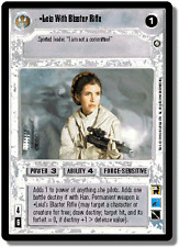Leia With Blaster Rifle [Near Mint] ENHANCED PREMIERE EPP star wars ccg swccg