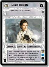 Leia With Blaster Rifle [NearMt/Mint] ENHANCED PREMIERE EPP star wars ccg swccg