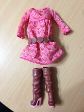 Barbie Fashionistas Nikki AA African American Artsy Doll's Dress & Boot Belt Lot