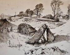HAROLD SAYER R.E.- Etching -Sleeping Stones -Ltd. Ed. 27/250-Pencil Signed-1987.
