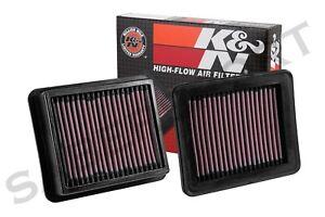 Two K&N 33-5033 Hi-Flow Air Intake Filters for 2012-2016 Infiniti M35H Q70 3.5L