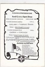 1985 Ford Open Draw Finals ; Cork v Kerry ; Tipperary v Galway;  Hurling & Footb