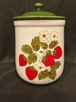 "Vintage - McCoy Pottery - Medium Strawberry Canister - Approx 9"" Tall"