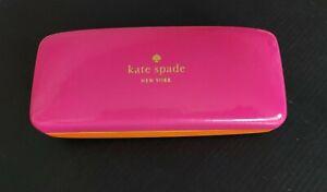 Kate Spade New York Pink & Orange Case Eye glasses or Sun Hard Clam Shell
