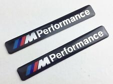 2 x Black M Sport Performance Car Door Interior Sticker Badge Decal For BMW