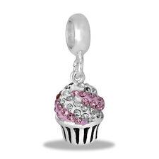 Davinci Beads Charm - Sparkly Cupcake Dangle - Buy 2 or More DaVinci and Save!