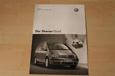 68614) VW Sharan Goal - Preise & Extras - Prospekt 04/2004