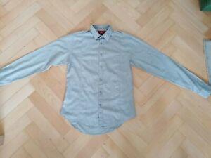 ZARA Mens Grey Slim Fit Shirt Size S