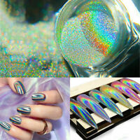 Glitter  Dust Mirror Effect Chrome Pigment Holographic Nail Art Powder