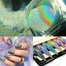 DIY Rainbow Glitter Mirror Effect Nail Art Chrome Pigment Holographic Powder BS