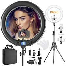 Ring Light,Upgraded Version CRI >97 55W 19inch with LCD Display Adjusted Bi-C...