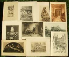 10 x antique collectors, decorators lot engravings, etchings, prints 1880-1920's