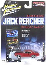 JOHNNY LIGHTNING JLCP6002 JACK REACHER 1970 CHEVY CHEVELLE SS 1/64 DIECAST RED