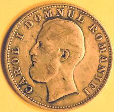 1 LEU 1870 C Rare ROMANIA. Silver coin.