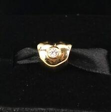 NEW Authentic Pandora 14K Gold Sparkling Heart w/ Diamond Charm 750294D