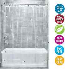 NEW Shower Curtain PEVA Modern Washable Polyester Waterproof Bathroom Clear 180
