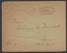 Germany Inflation October 1923 6000,000m meter frank cover to Switzerland