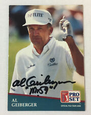 hand signed autographed PGA card ~ AL GEIBERGER