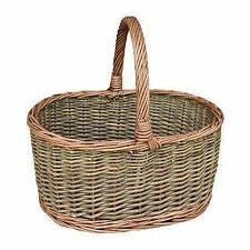 Red Hamper Large Country Oval Wicker Shopping Basket