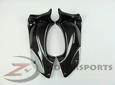 2006-2011 ZX14 ZX-14 ZZR1400 Upper Dash Air Duct Cover Panels 100% Carbon Fiber