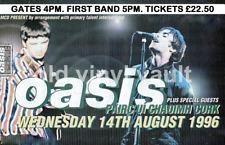 Oasis Concert Poster PairC UI Caoimh Cork Ireland 1996 A3 Size Repro..