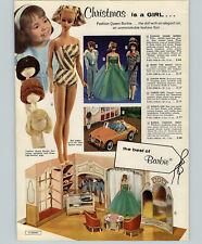 1964 PAPER AD 2 PG Fashion Queen Barbie Doll Pre Teen Tammy Sports Car