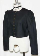 "Kruger LINEN JACKET German BLACE /  LACE UP - BACK SIDE Dirndl Dress / B40"" 10 M"