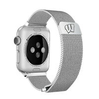 Wisconsin Badgers Stainless Steel Mesh Band Compatible with Apple Watch