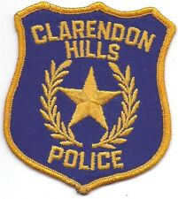 **CLARENDON HILLS ILLINOIS POLICE PATCH**