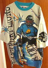 FRANKFURT LIONS hockey T shirt XXL Germany DEL ringer 2XL tee all-over print
