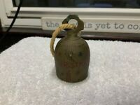 Antique Brass Bell Merry Christmas Stars Holly Lanterns Etched Engraved India