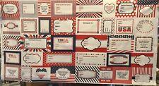 Patriotic fabric labels