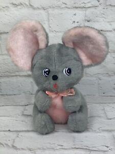 "Vintage RUSHTON COMPANY Mouse 7.5"" Plush Stuffed Animal Doll Toy"