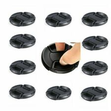 10pcs 77mm Center-Pinch Snap-on Front Lens Cap with Cord for DSLR Camera Lens