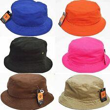 New Summer 100%Cotton Safari Hiking Bucket hat fisherman Sun crushable cap