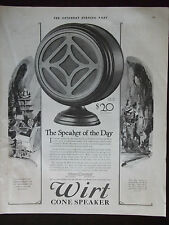 1927 Wirt Cone Speaker Original Advertisement